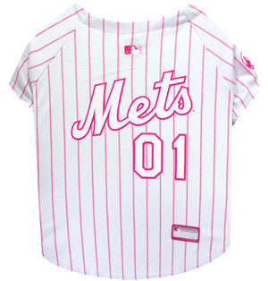 New York Mets Pink Dog Jersey