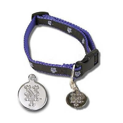 New York Mets Premium Dog Collar and Team Charm