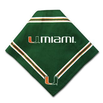Miami Hurricanes Dog Bandana (Discontinued)