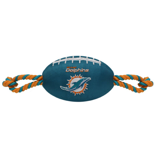Miami Dolphins Nylon Football Dog Toy