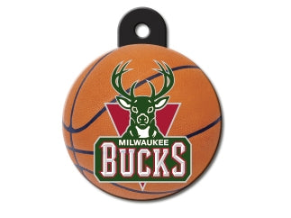 Milwaukee Bucks Round Basketball Dog ID Tag