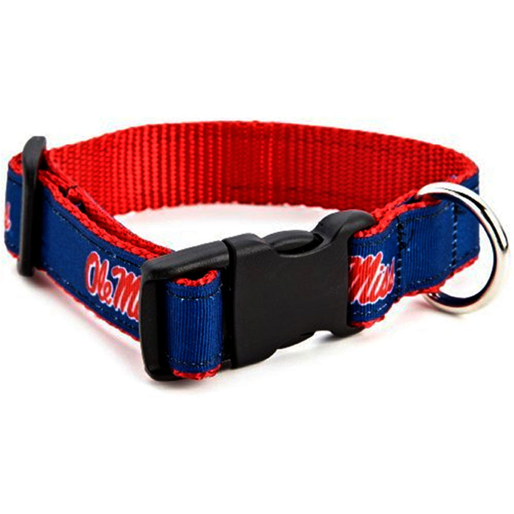 Mississippi Rebels Premium Dog Collar
