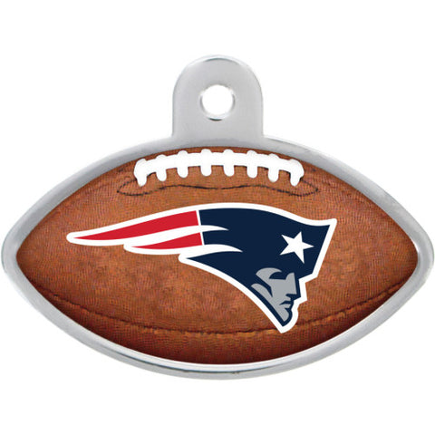 New England Patriots Football Dog ID Tag