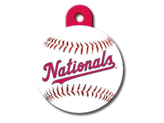Washington Nationals Round Baseball Dog ID Tag