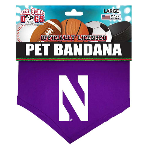 Northwestern Wildcats Dog Bandana