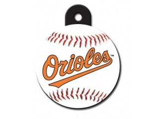 Baltimore Orioles Round Baseball Dog ID Tag