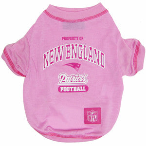 the latest 515b1 642d4 New England Patriots Pink Dog T-Shirt