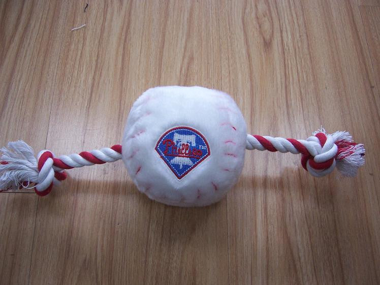 Philadelphia Phillies Baseball Plush Rope Toy