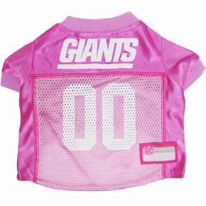 New York Giants Pink Dog Jersey