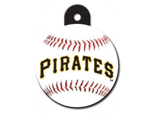 Pittsburgh Pirates Round Baseball Dog ID Tag