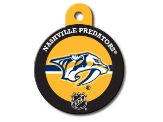 Nashville Predators Round Hockey Puck Dog ID Tag