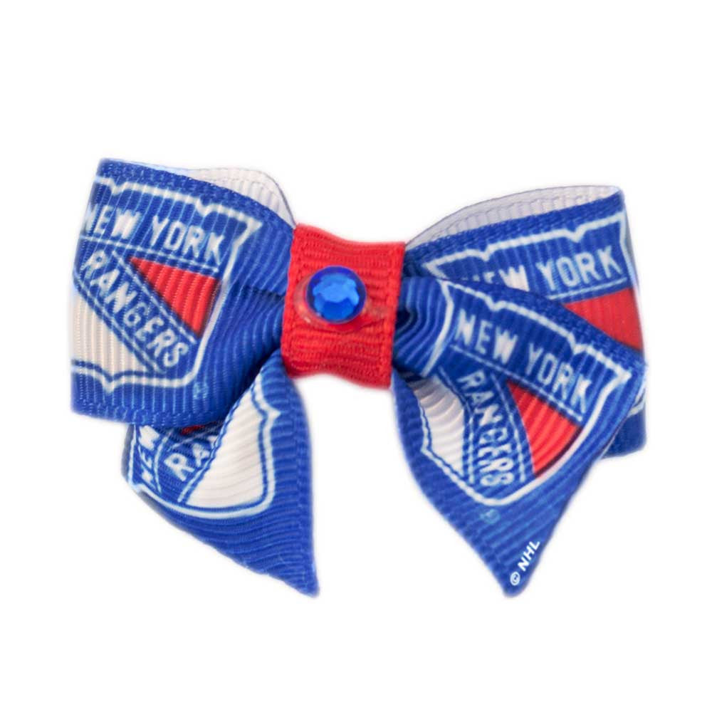New York Rangers Dog Hair Bow