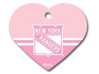 New York Rangers Pink Heart Dog ID Tag – Athletic Pets 164be671b