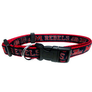 Mississippi Rebels Dog Collar