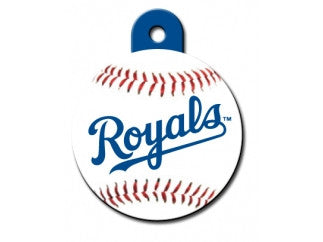 Kansas City Royals Round Baseball Dog ID Tag