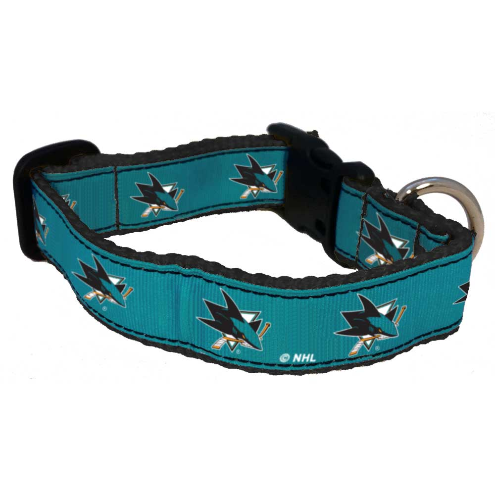 San Jose Sharks Premium Dog Collar