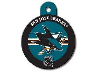 San Jose Sharks Round Hockey Puck Dog ID Tag