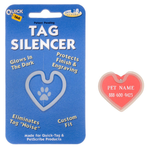 Heart Shaped ID Tag Silencer / Protector