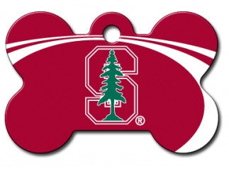 Stanford University Cardinal Dog ID Tag