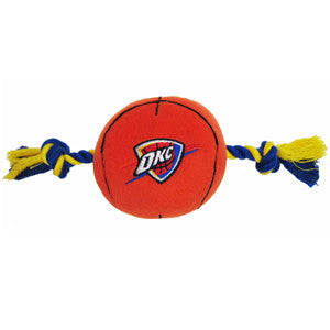 Oklahoma City Thunder Basketball Plush and Rope Toy