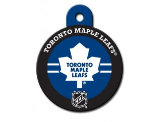 Toronto Maple Leafs Round Hockey Puck Dog ID Tag