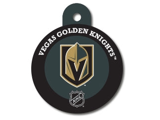 Vegas Golden Knights Round Hockey Puck Dog ID Tag
