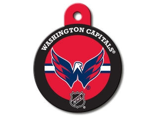 Washington Capitals Round Hockey Puck Dog ID Tag
