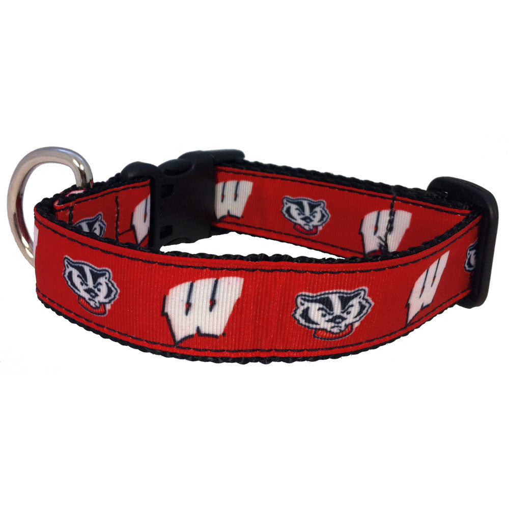 Wisconsin Badgers Premium Dog Collar
