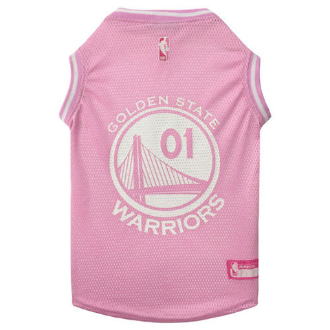 Golden State Warriors Pink Dog Tank Jersey
