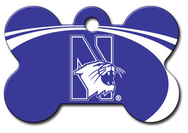 Northwestern Wildcats Dog ID Tag