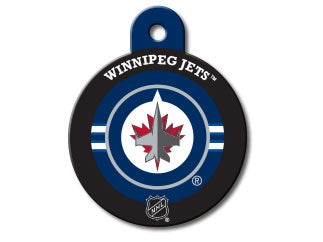 Winnipeg Jets Round Hockey Puck Dog ID Tag