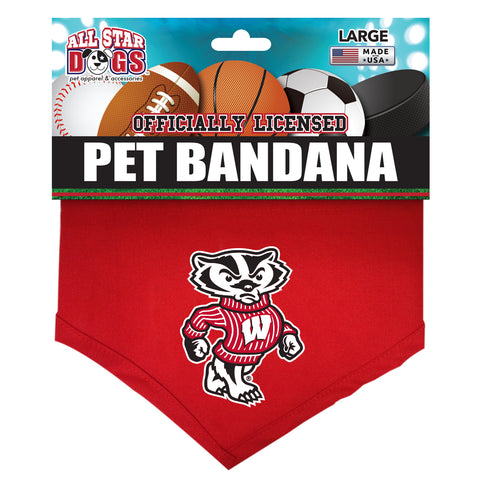 Wisconsin Badgers Dog Bandana