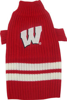 Wisconsin Badgers Dog Sweater