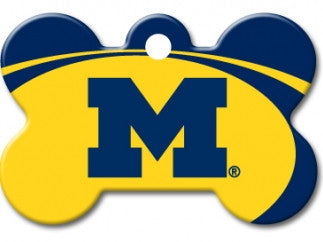 Michigan Wolverines Dog ID Tag