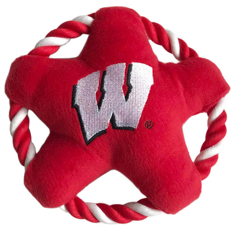 Wisconsin Badgers Star Rope Disk Toy