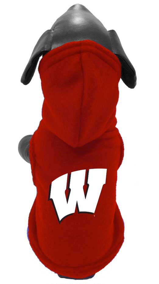 Wisconsin Badgers Dog Polar Fleece Hoody