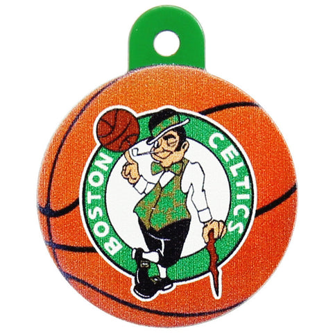 Boston Celtics Round Basketball Dog ID Tag