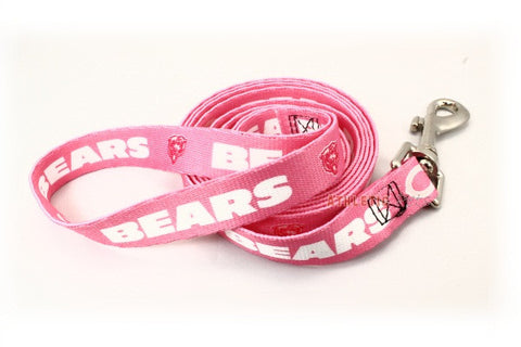 Chicago Bears Pink Dog Leash (Discontinued)