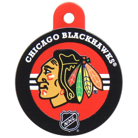 Chicago Blackhawks Round Hockey Puck Dog ID Tag