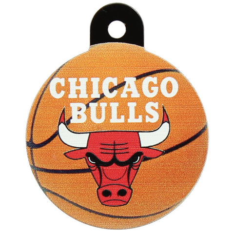 Chicago Bulls Round Basketball Dog ID Tag