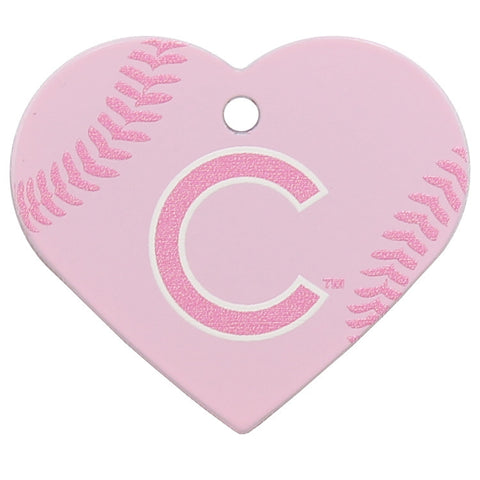 Chicago Cubs Pink Heart Dog ID Tag