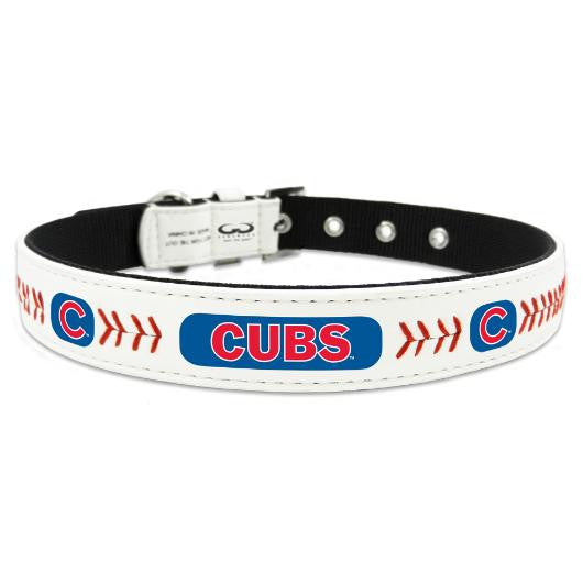 Chicago Cubs Leather Dog Collar