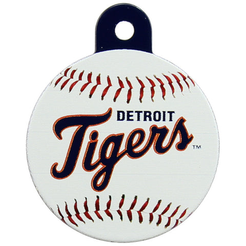 Detroit Tigers Round Baseball Dog ID Tag