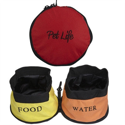 Double Travel Dog Bowl by Pet Life