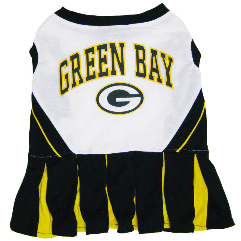 Green Bay Packers Dog Cheerleader Uniform