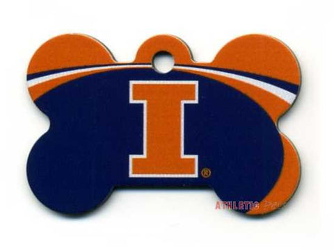 Illinois Fighting Illini Dog ID Tag