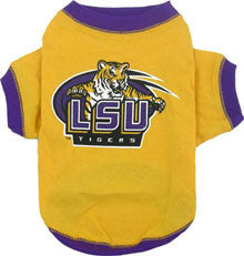 LSU Louisiana State Tigers Dog T-Shirt (Discontinued)