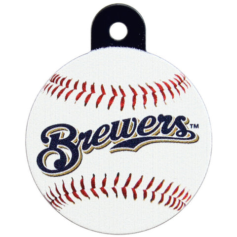 Milwaukee Brewers Round Baseball Dog ID Tag