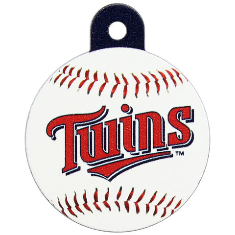 Minnesota Twins Round Baseball Dog ID Tag
