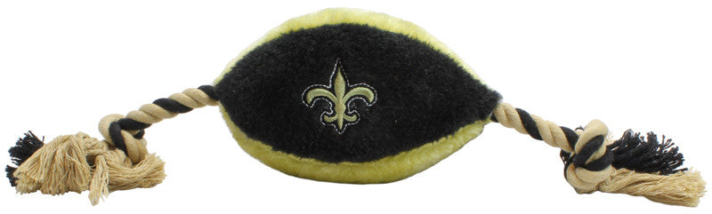 New Orleans Saints Plush Football Rope Toy
